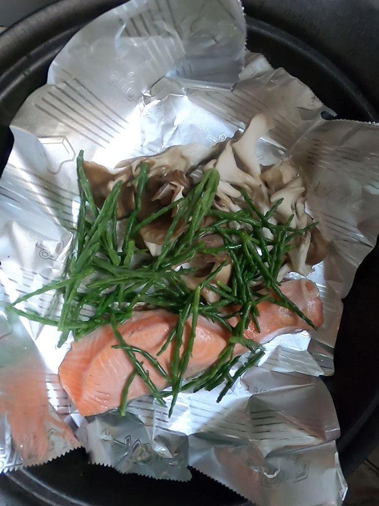 鮭とシーアスパラガス