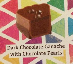 ダークチョコレートガナッシュの チョコパールかけ