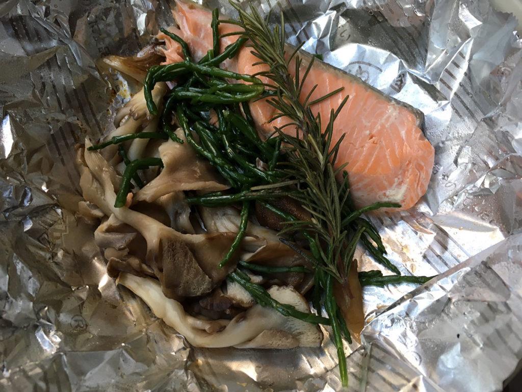 鮭ローズマリーシーアスパラガス焼き2